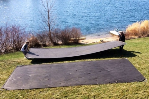 Lake Drawdowns:  A Great Time to Install LakeMats