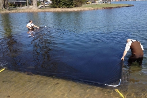Consider Installing Your LakeMat During a Lake Drawdown