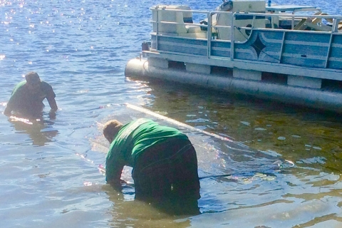 Your Lake Muck and Weed Problem Can Be Solved with Lake Weed Control Mats from LakeMat